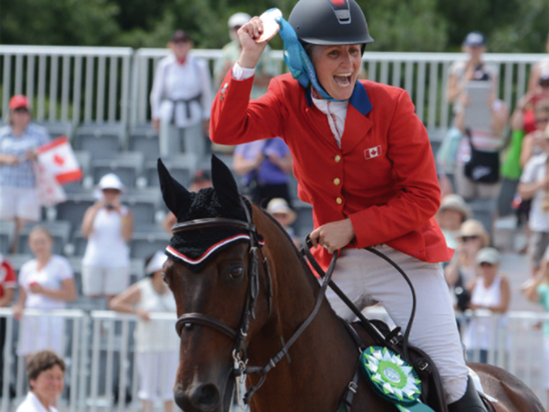 Jessica and Pavarotti on way to 2019 Pan Am Games